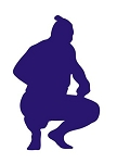 Sumo Wrestler Silhouette v3 Decal Sticker
